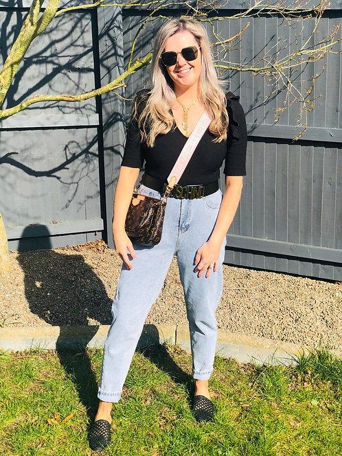 Ankle Grazer Mom Jeans
