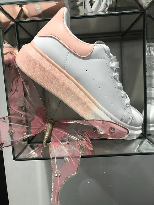 Queenie Trainers - Coral