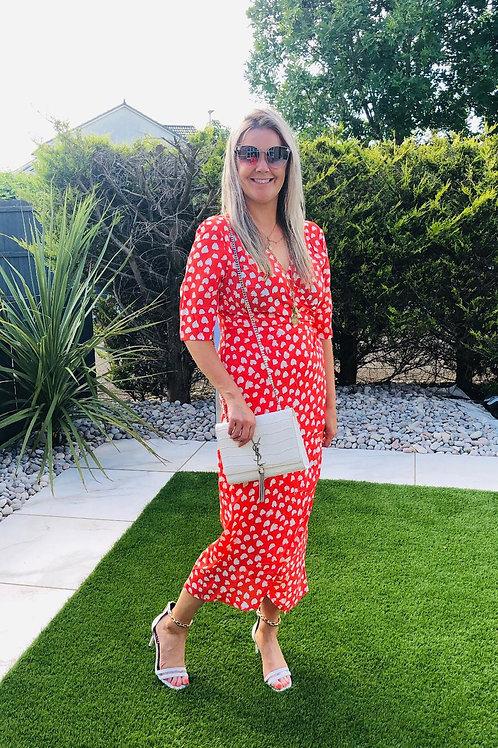 Esme Midi Wrap Dress