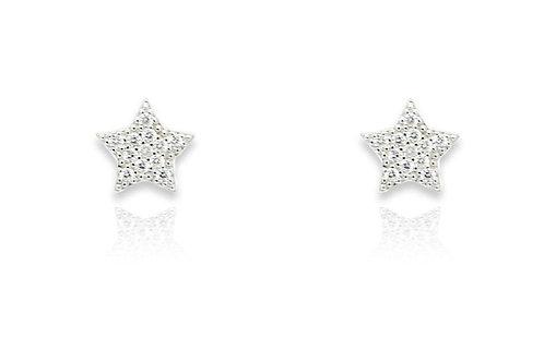Chastain Silver Stud Earrings