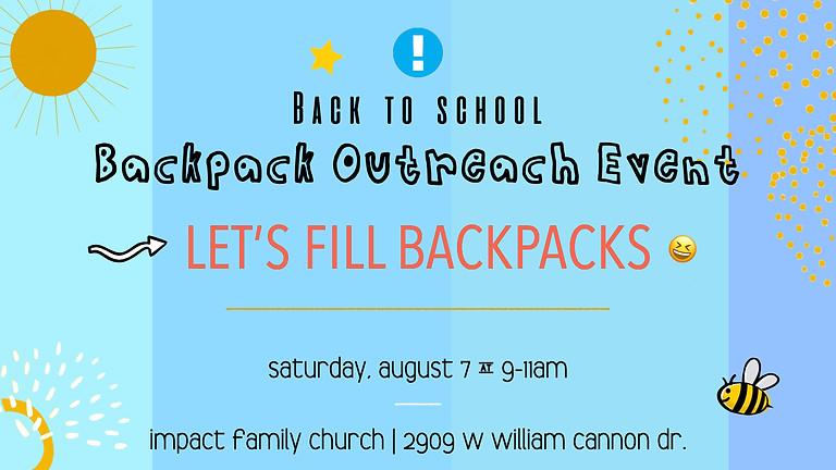 Let's Fill Backpacks!