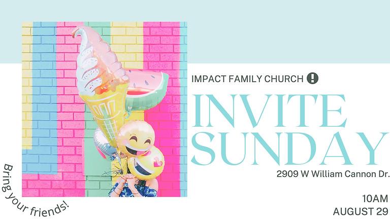Invite Sunday - Bring One Save One