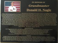 Master Don Nagle's Memorial Plaque