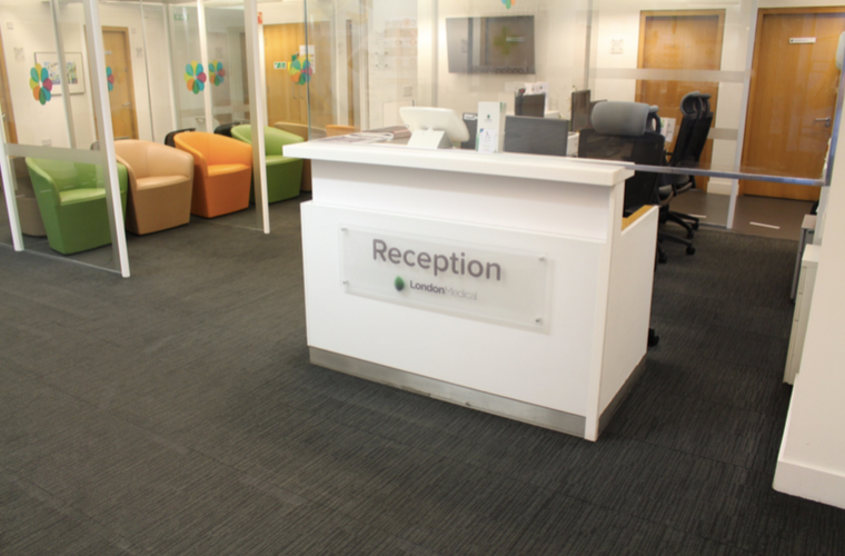 Our new Reception desk