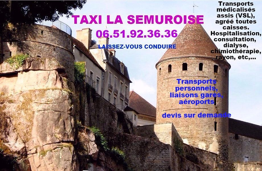 semur en auxois taxi la semuroise