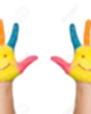 15526245-le-due-mani-colorate-con-sorris