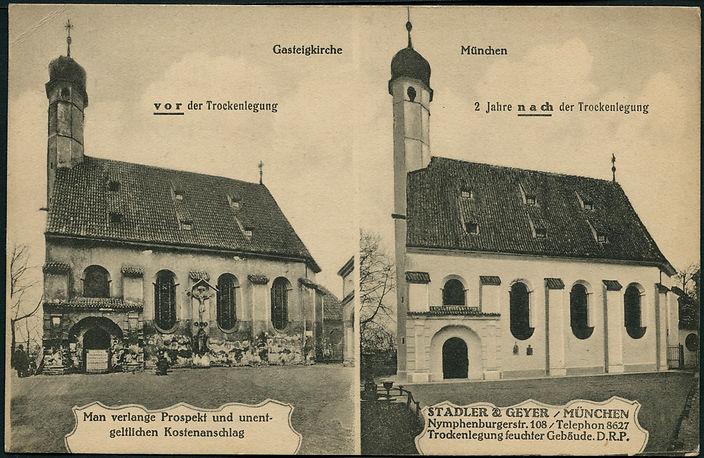 Anuncio publicitario de la empresa Stadler yGeyer de los años 20 (antes y despúes de 2 años)