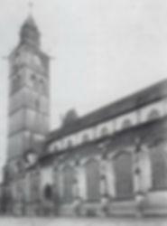 Überlinger Münster im Jahr 1910 vor dem Abdichtungsverfahren