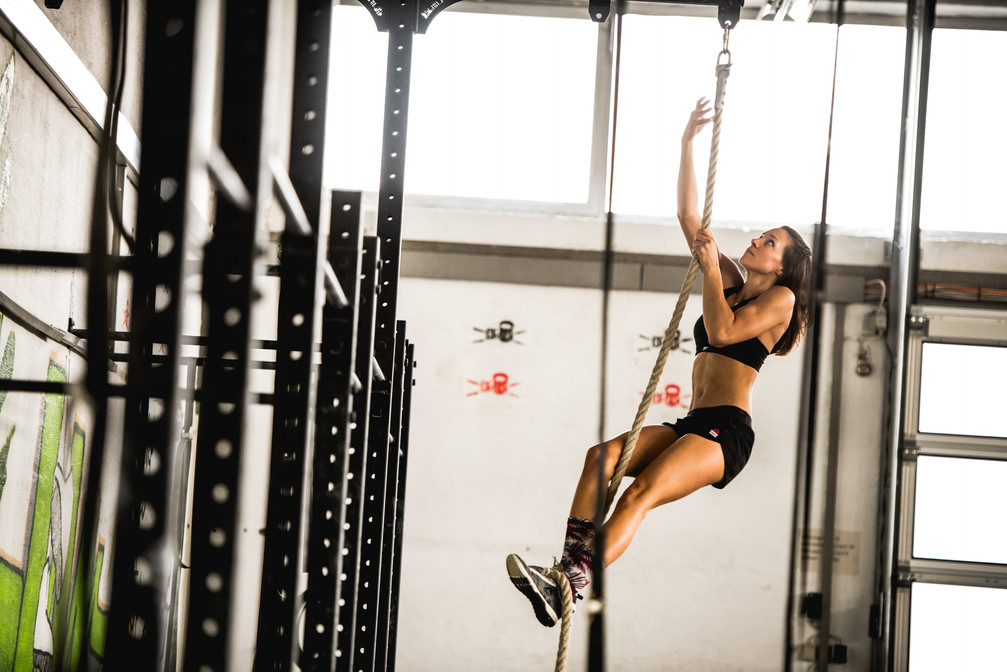 Marion Luck Rope Climb