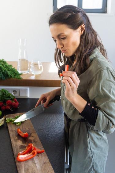 Marion Luck in der Küche