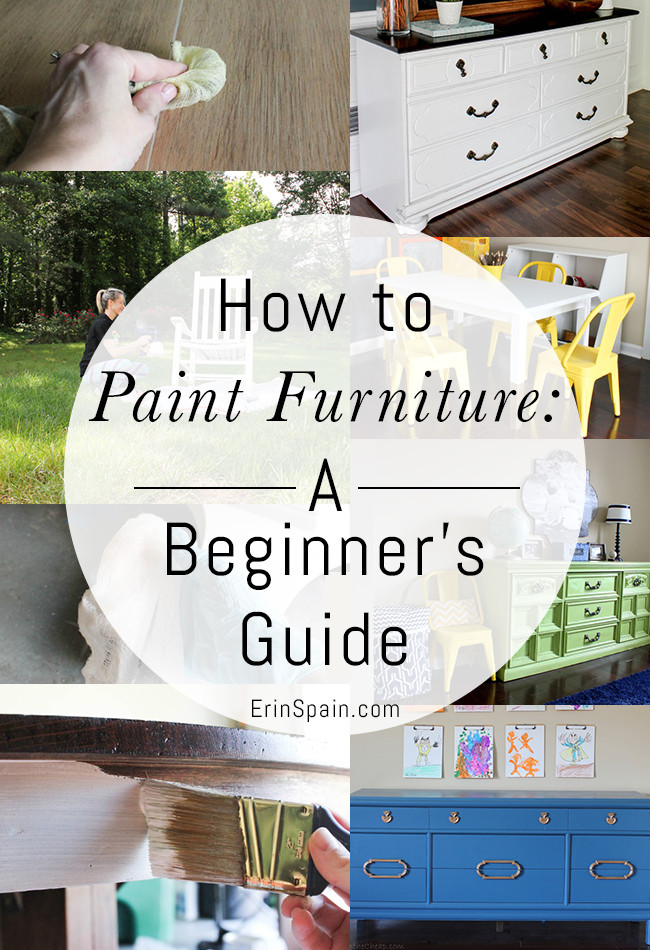 How to paint furniture (crash course article)