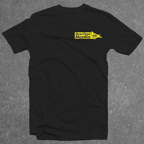 """OverTime Hustlin """"Preme Style (Short) Pocket Logo """" T-Shirt"""
