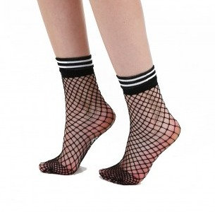 Fishnet ankle socks, stripe, sporty, Instagram socks, festival clothing, accessories, coachella, burning man, glastonbury