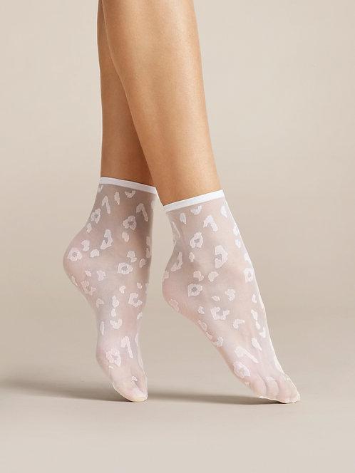 Sheer ankle pop socks, leopard print, transparent, black, animal, zebra, tiger, trend, trendy, socks and shoes, white