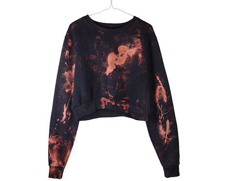 SHORT CROPPED Cotton Sweatshirt