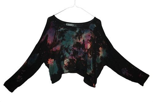 Oversized sleeved cropped top, crop tshirt, t-shirt, slouchy yoga wear, yogawear, yoga clothing, activewear, Rainbow