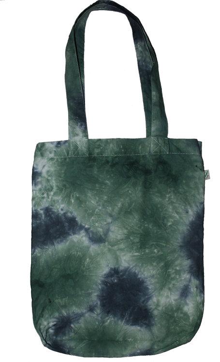 Dark green Bag for life, tote bag, organic cotton, fair trade, hand dyed, dip dye, tie dye, earth positive, eco friendly