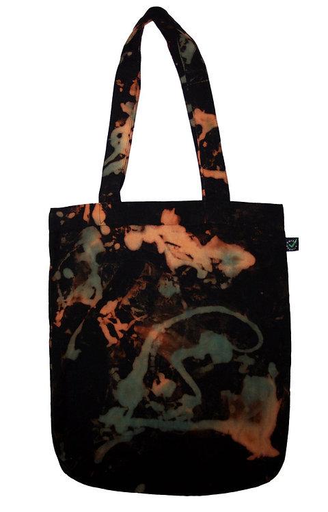 organic cotton tie dye tote bag, shopper, bag for life,  fair trade, fair wear, eco friendly, eco-friendly, sustainable
