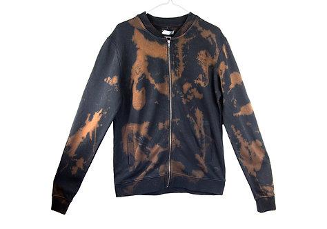 Tie dye sweatshirt, bomber jacket, jersey, dip dye, acid wash, sweat, sweater, zip up, unisex, womens, mens, sportswear