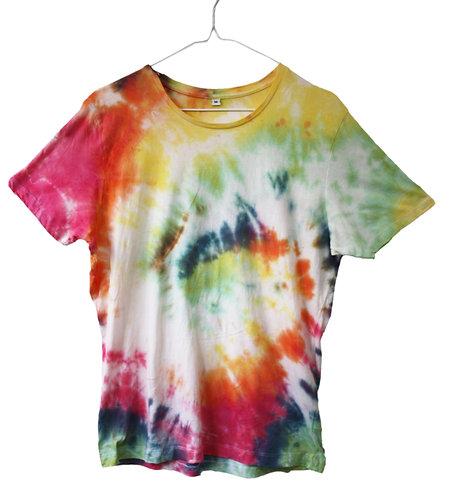 Tie dye top, t shirt, tshirt, t-shirt, lightweight fine jersey, swirl, spiral, rainbow, pride, lgbtq+,