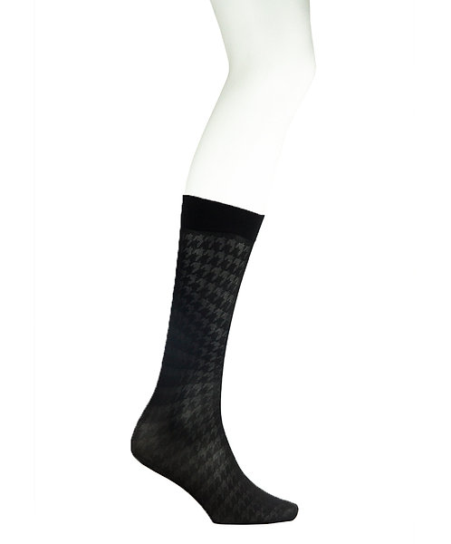 Sheer Knee High Socks -Dogtooth