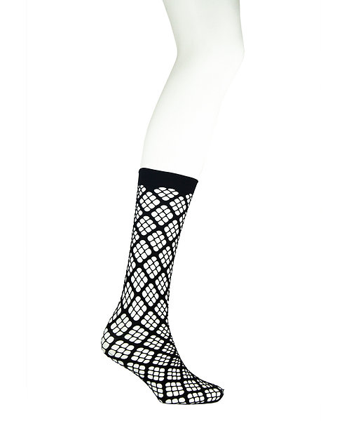 Knee high fishnet socks, whalenet, lace, black, spring summer, festival, welly socks, ankle boots, pamela mann