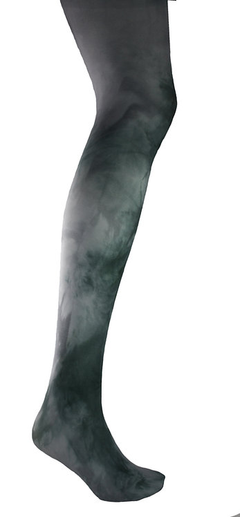 grey Tie dye, hand dyed dip dyed opaque tights.  patterned hosiery japanese fashion kawaii style cute patterned