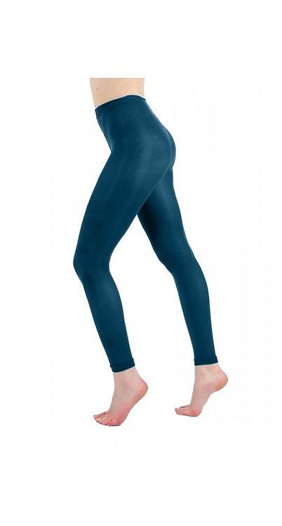 Teal Pamela Mann Footless tights, opaque leggings, pantyhose, halloween, cosplay cos play, costume fancy dress.