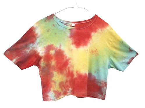 Bamboo, organic cotton tshirt, t-shirt, t shirt, cropped, crop, Rainbow, fair trade, sustainable, eco friendly, vegan, LGBTQ+