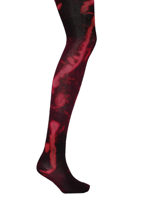 Bamboo sustainable tights, warm, thick thermal, 140 denier, nebula space pattern, patterned, cosmic, purple, pink, black