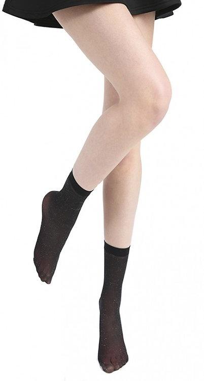 Ankle socks , glitter, lurex, sparkle, sparkly, sparkley, shimmer, metallic, black, sheer, party season, party clothing
