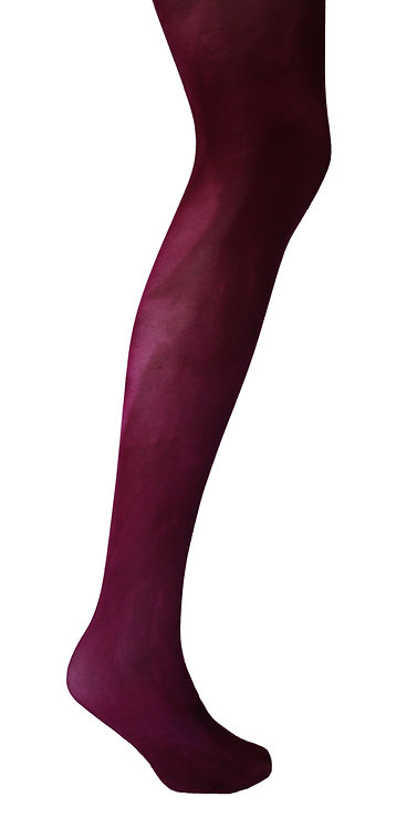 Hand dyed tie dye tights, patterned hosiery, plain colour, bright bold color japanese stye kawaii fashion cute magenta purple