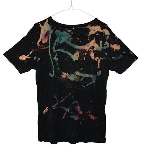 Hand dyed, tie dye, dip dyed, bamboo tshirt, t shirt, t-shirt, fair trade, fair wear, eco friendly, sustainable, green, black
