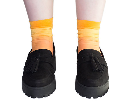 OMBRE Hand dyed Ankle Socks - TEQUILA SUNRISE