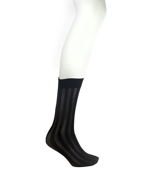 Sheer Knee High Socks - Vertical Stripes