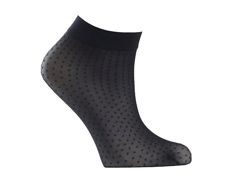 Sheer Ankle Socks - DOTS