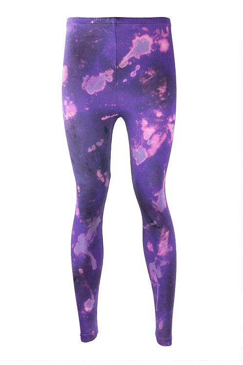 cotton elastane leggings, tie dye, dip dyed, acid wash, nebula, space, yoga, bikram, sportswear, clothing, activewear, sports