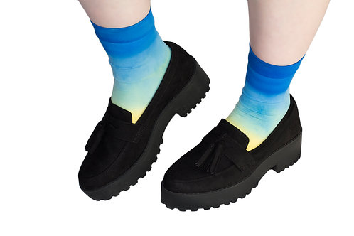 OMBRE Hand dyed Ankle Socks -SHORE