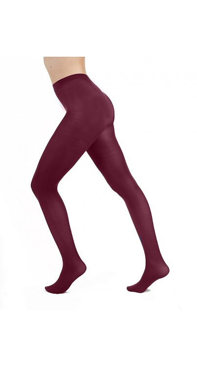 Colourful tights, colorful stockings, hosiery, pantyhose, opaque 50 denier, kawaii fashion, damson purple, bright, mauve,