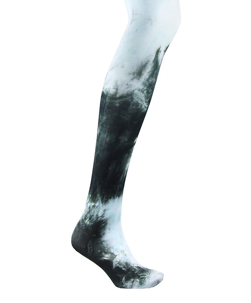 ice pale blue Tie dye, hand dyed dip dyed opaque tights.  patterned hosiery japanese fashion kawaii style cute patterned