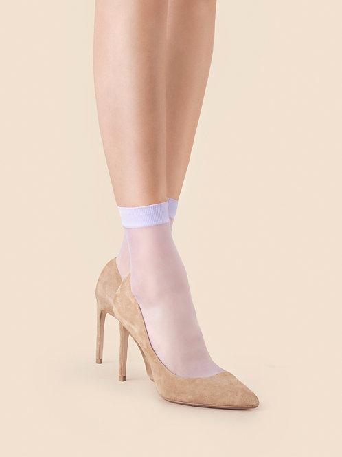 lilac pastel ankle socks, so sweet, fiore, tights, hosiery, sheer, pop socks, feminine, delicate, cute, soft