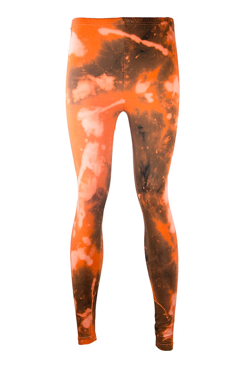 cotton elastane leggings, tie dye, dip dyed, acid wash, nebula, space, yoga, bikram, sportswear, clothing, activewear, sports