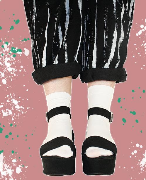 White 80 denier Ankle Socks