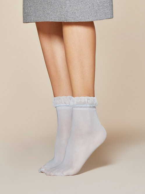 Frill ankle socks, frilly ankle socks, blue, grey, cute, kawaii, sophisticated, spring, shoes, sandals.