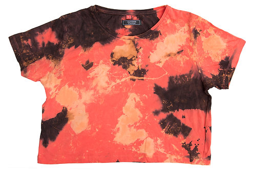 Cropped T-Shirt - Coral