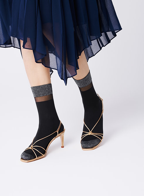 metallic black sparkle ankle socks, sheer tulle, kawaii cute, party outfit, accessory