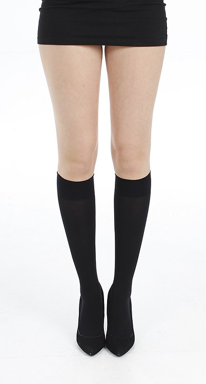 40 denier black knee high pop socks, summer, spring, autumn, sheer,
