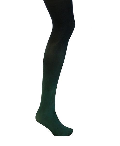Ombre dyed opaque tights.  Dancewear activewear dance hip hop tie dye dip dyed net legwear.  Halloween cosplay cos play