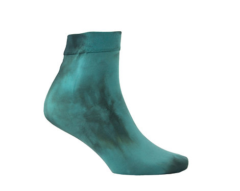 Hand dyed Ankle Socks - TEAL
