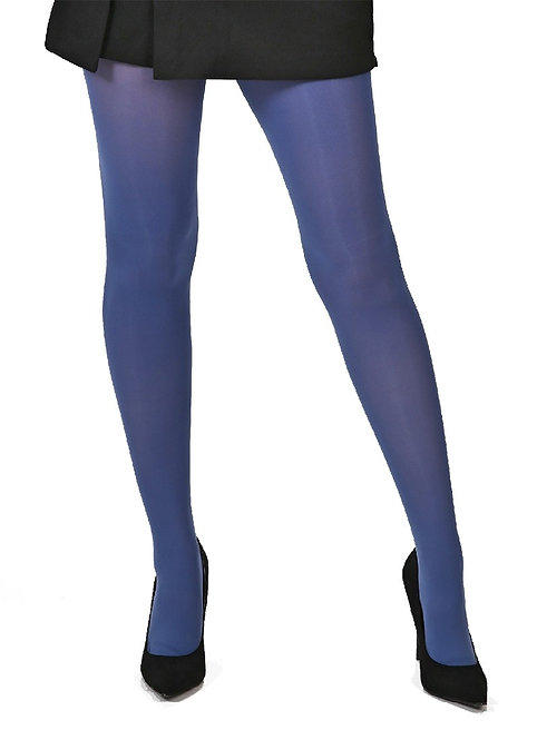 Tight, stockings, hosiery, pantyhose, 40 denier, opaque, colourful, colorful, steel blue, denim, bright, bold,